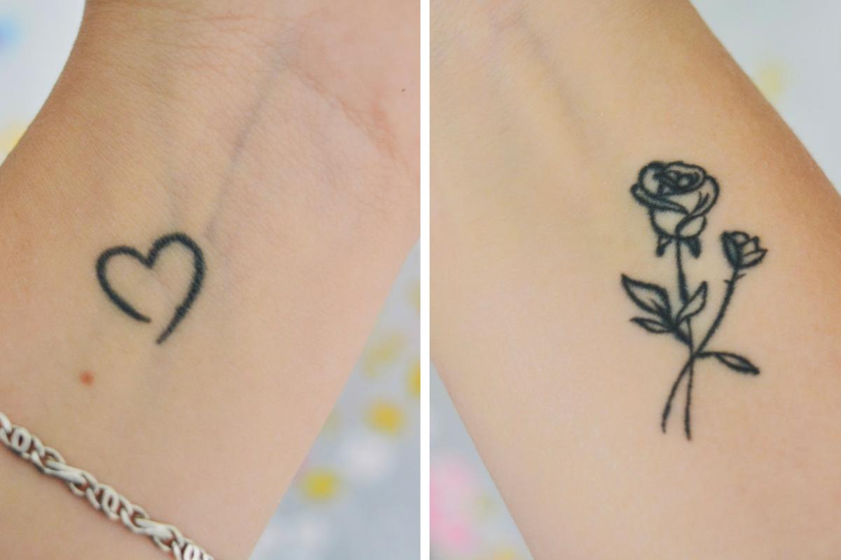 Even over mijn twee minimalistische tatoeages